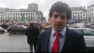 Kurdish Communists protest Turkish President Erdogan in Brussels outside the EU Parliament!