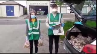 Young Irish Patriots Leading the way in Mullingar delivering food aid!