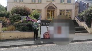 Síol na hÉireann protest abortionist advice centre, Letterkenny Co. Donegal