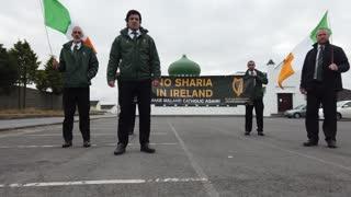 Síol na hÉireann Protest Sharia Law   Ballyhaunis Mosque Co. Mayo