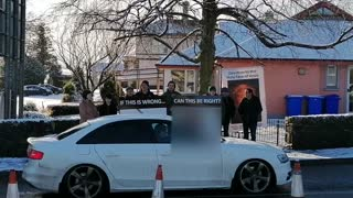 Lifford Abortion protest