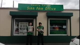 Niall McConnell gives Sinn Fein Real Irish Nationalist Literature!