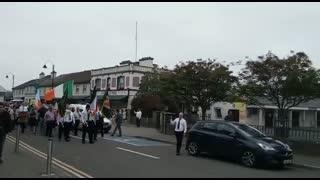 Síol na hÉireann lead procession at knock novena.