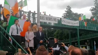 Niall McConnell Gives Speech at RTÉ Fake News HQ